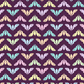 Flying Bats Pattern In Pale Colors by MM Anderson