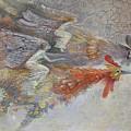Flying Fairies. Monotype by Valentina Kondrashova