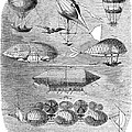 Flying Machines, 1856 by Granger