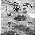Flying Machines, 1864 by Granger