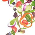 Flying Salad by Ekaterina Molchanova