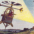 Flying Sentinel, 1900s French Postcard by Science Source