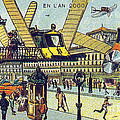 Flying Taxicabs, 1900s French Postcard by Science Source