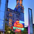 Flying Yankee Neon Sign - Rose Kennedy Greenway - Boston by Joann Vitali
