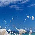 Foam Burst -  Triptych - 3 Of 3 by Sean Davey