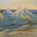 Foaming Ocean Waves by Phyllis Tarlow