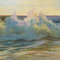 Foaming Waves At Beach by Phyllis Tarlow