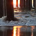 Foamy Waters Under The Pier by Robert Banach
