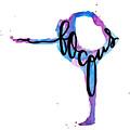 Focus Yoga 24 X 36 by Michelle Eshleman