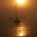 Fog Breaking On Superior by Robert Coffey