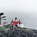 Fog Comes Rolling In - Battery Point Lighthouse - Crescent City Ca by Christine Till