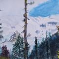 Fog On Mt. Rainer by Warren Thompson