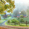 Fog On Sleepy Hollow Farm by Jeff Folger