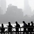 Fog On The Hudson by Joe Epstein