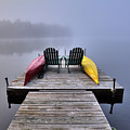 Fog On West Lake by David Patterson