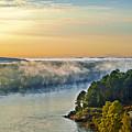Fog Over Savannah River by Michael Whitaker