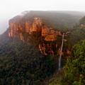 Fog Sunrise And Waterfalls by Martin Massari