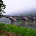 Foggy Bridge by Lone Dakota Photography