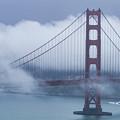 Foggy Golden Gate Bridge by Teri Virbickis