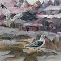 Foggy Gulls by Mikki Alhart