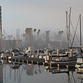 Foggy Marina Morning 2 by Robert Butler