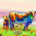 Foggy Mist Cows #0090 Arty by Barbara Tristan