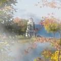 Foggy Morning At The Lake by John M Bailey
