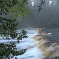 Foggy Morning On Lower Tahquamenon Falls by Kathryn Lund Johnson