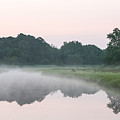 Foggy Morning Reflections by Allan Levin