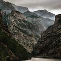 Foggy Mountains Over Neretva Gorge by Jaroslaw Blaminsky