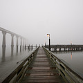 Foggy Pier by Mike Batson Photography