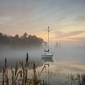 Foggy Sunrise At Great Pond 3 by Jim Hayes