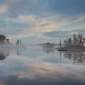 Foggy Sunrise At Great Pond 4 by Jim Hayes