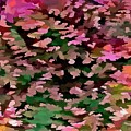 Foliage Abstract In Pink, Peach And Green by Taiche Acrylic Art