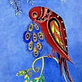 Folk Art Bird by Connie Valasco