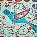 Folk Bird by Karla Gerard