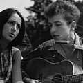 Folk Singers Joan Baez And Bob Dylan by Everett