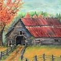Follow The Lantern - Early Morning Barn- Anne's Barn by Jan Dappen