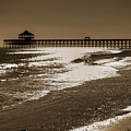 Folly Pier Sunset by Drew Castelhano