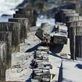 Folly Sea Wall by Jennifer White