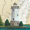 Fon Du Lac Lighthouse Wi Nautical Chart Map Map by Cathy Peek