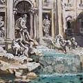 Fontana Di Trevi Rome by Ylli Haruni