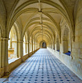 Fontevraud Abbey Cloister, Loire, France by Curt Rush