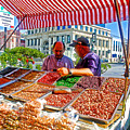 Food Booth In Valparaiso Square-chile by Ruth Hager