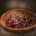 Food - Grapes - A Bowl Of Grapes  by Mike Savad