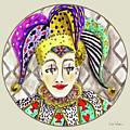 Fools, Jester Button by Lise Winne