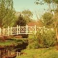 Foot Bridge In The Garden by Angie Tirado