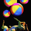 Foot Juggling Zebra by Toula Mavridou-Messer