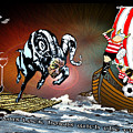Football Derby Rams Against Doncaster Vikings by Miki De Goodaboom