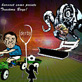 Football Derby Rams Against Ipswich Tractor Boys by Miki De Goodaboom